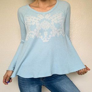 We The Free Blue Thermal Flare Top Small